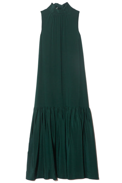 Eco Silk Dropwaist Dress in Bright Pine