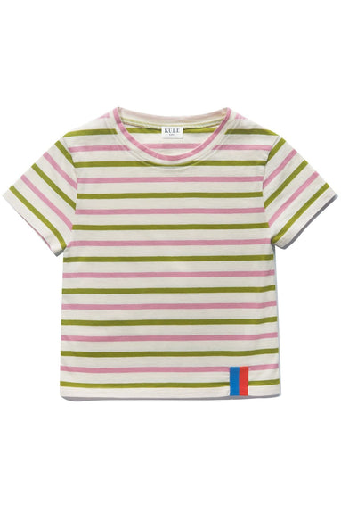 Kids The Charley Top in Cream/Avocado/Cherry
