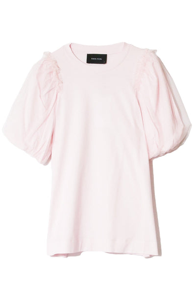 Inverted Puff Sleeve T-Shirt in Pink