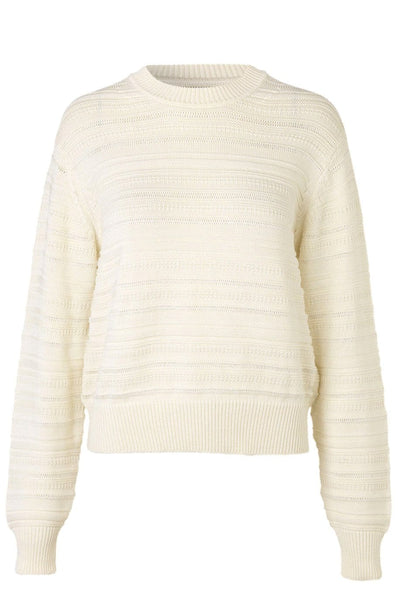 Frey Crew Neck Sweater in Lily White