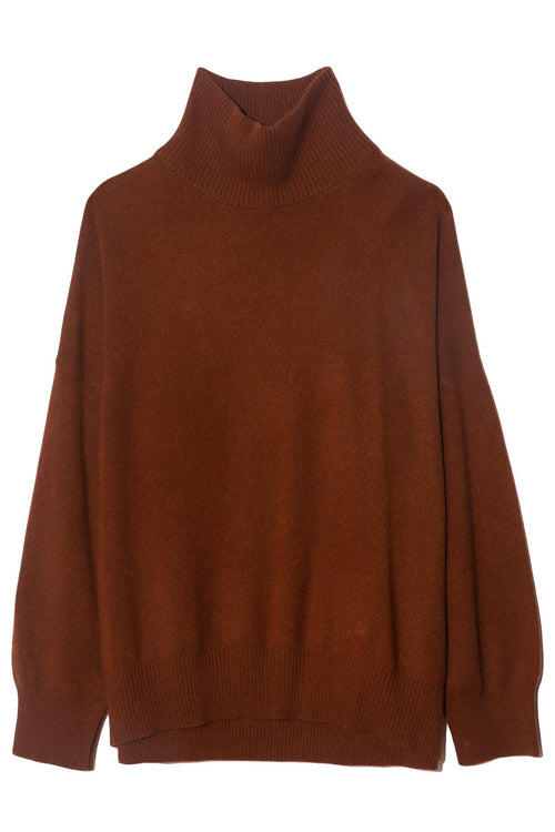 Murano Turtleneck Sweater in Chocolate