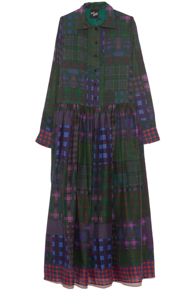 Baba Dress in Dark Tartan