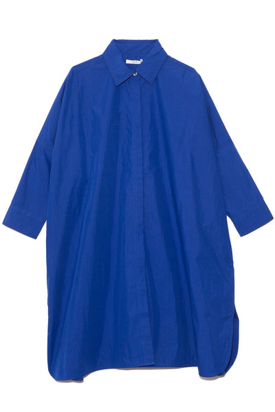 Oversized Button Down Shirt in Cobalt