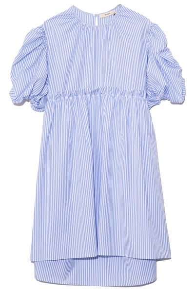 Ada Cotton Dress in Blue Stripe