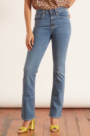 Poppy Slim Boot Jean in Caraway