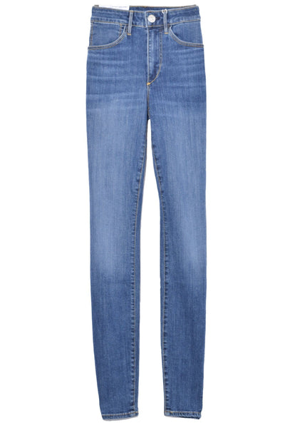 High Rise Channel Seam Skinny Jean in Charter