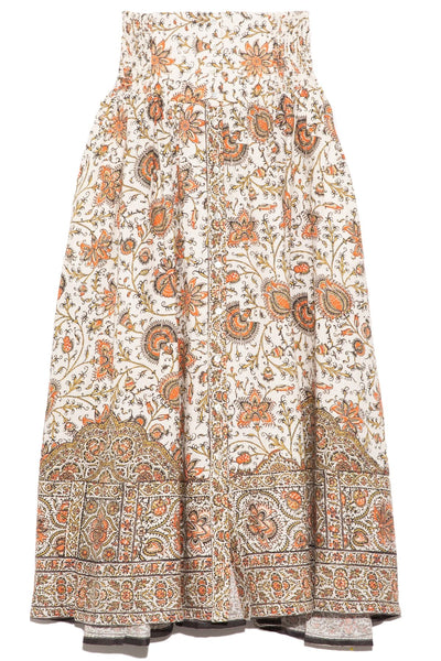 Yolanda Corset Skirt in Ivory Multi