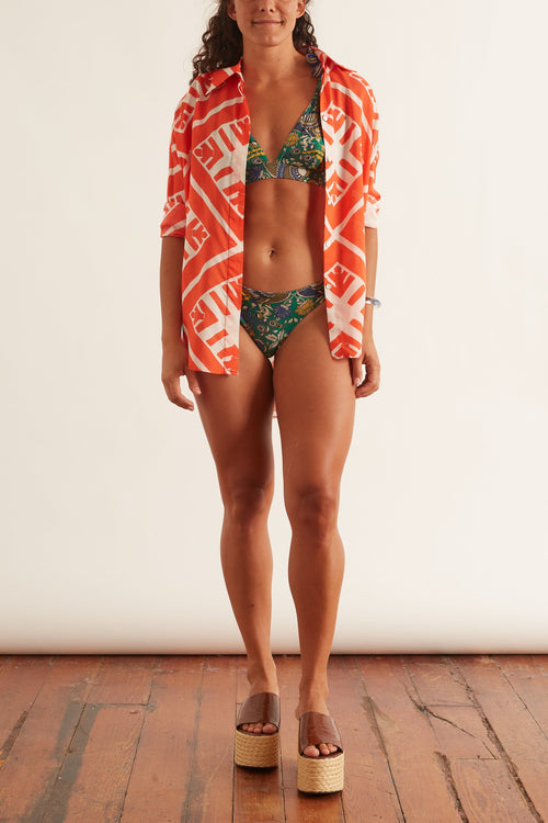 Edie Tie Shoulder Wide Bikini in Peacock