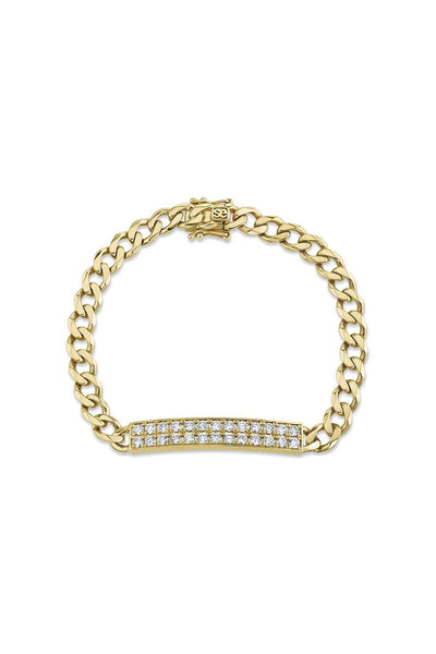 ID Bar Bracelet in Yellow Gold