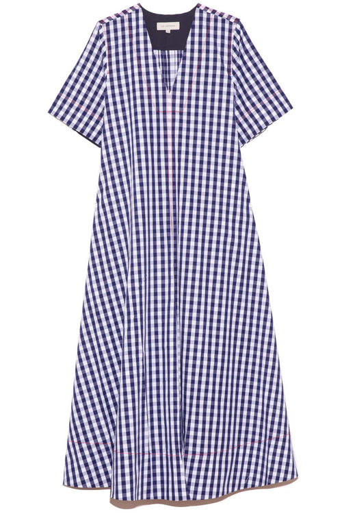 Bessie Check Shirtdress in Navy Gingham