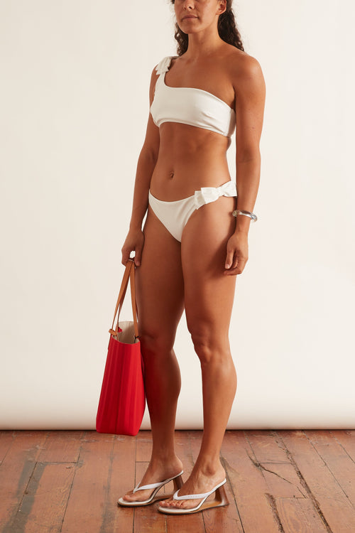 Peggy Bow Bikini in Ivory