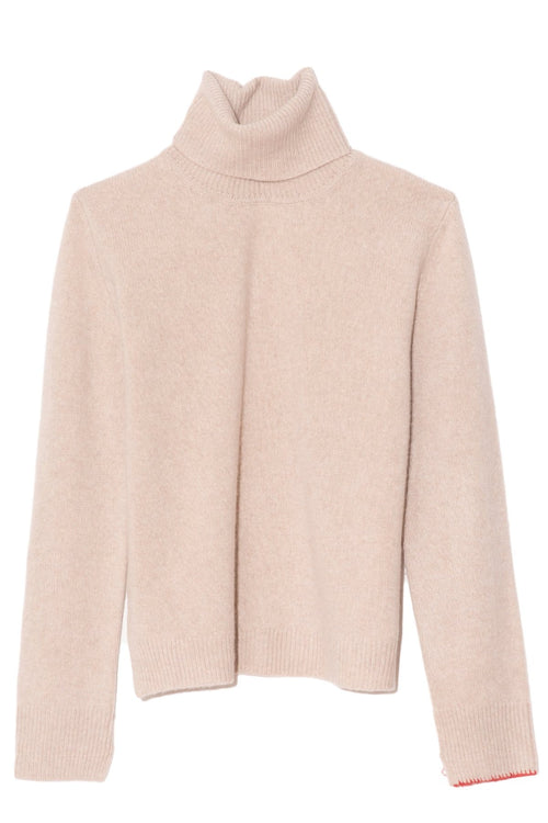 Cashmere Turtleneck in Sand