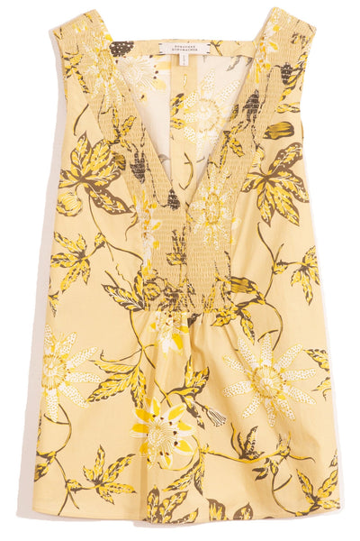 Delicate Florals Top in Yellow Passiflora