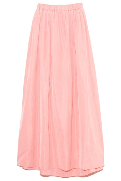Taffeta Pull On Cocoon Skirt in Azalea Pink