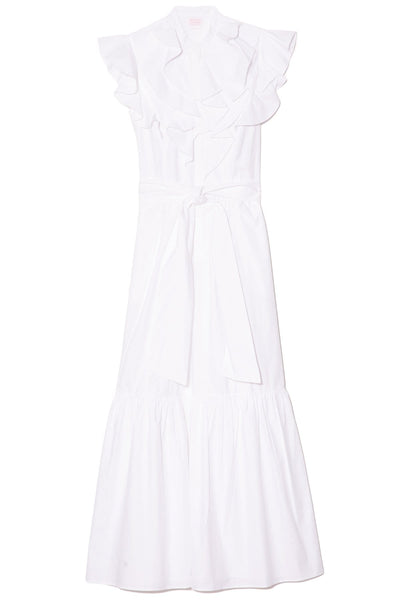 Paola Dress in Solid White