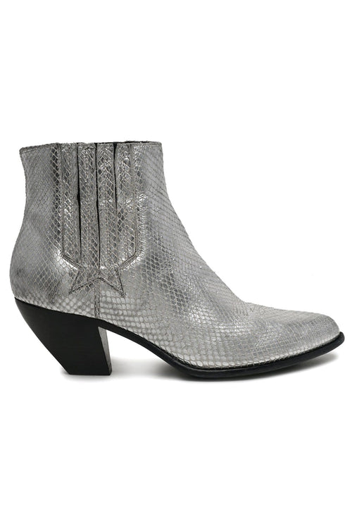 Sunset Python Boot in Silver