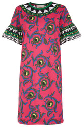 Walk the Dog Dress in Cartwheel Fuxia