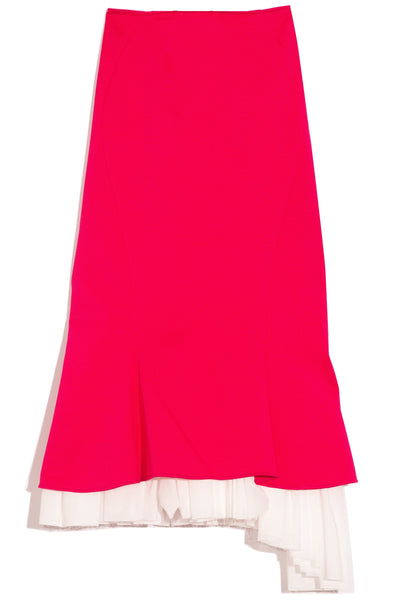 Godet Skirt in Starlight Pink
