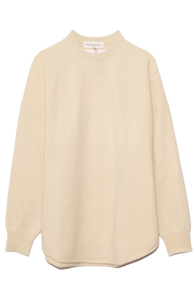 Crew Hop Cashmere Sweater in Cream