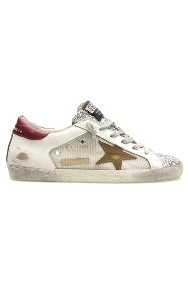Superstar Sneaker in Silver/White/Tobacco/Red