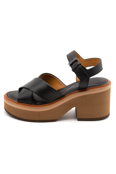 Charline Platform Sandal in Black