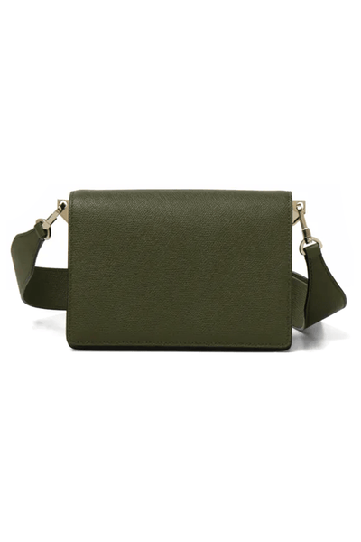Small Swing Bag with Adjustable Strap in Military Green