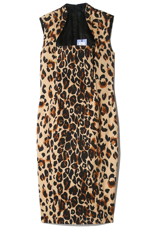 Bodyshaping Dress in Natural Leopard