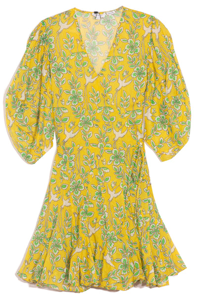 Rosie Dress in Yellow Eden