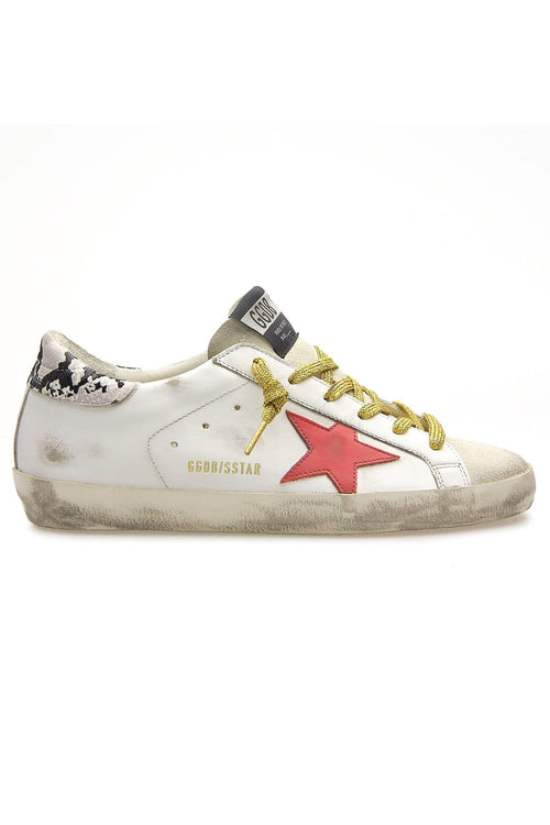 Superstar Sneaker in Ice/White/Red/Rock
