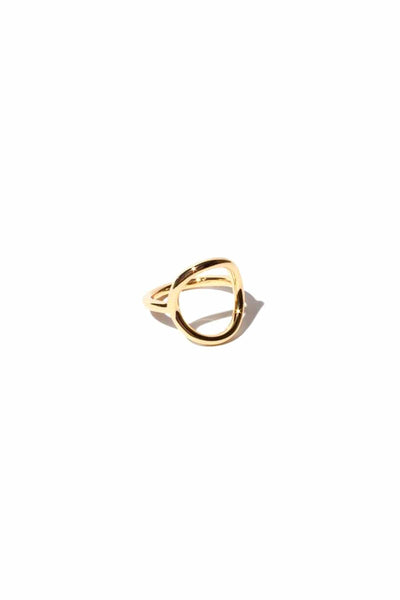 Circle Ring in 14k Gold Vermeil