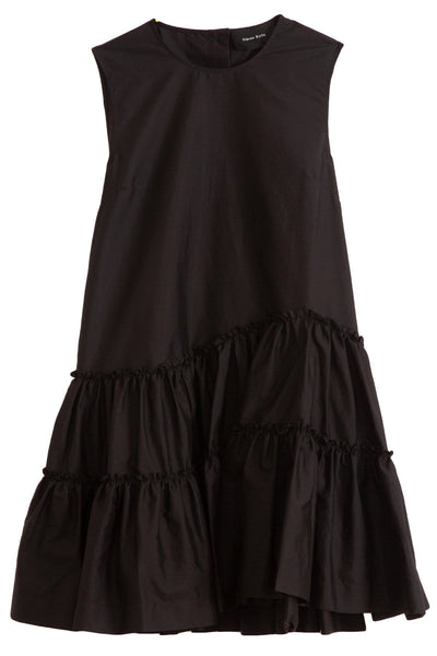 Sleeveless Short Frill Dress in Black