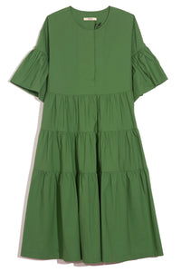Flared Sleeve Dress in Palm Green