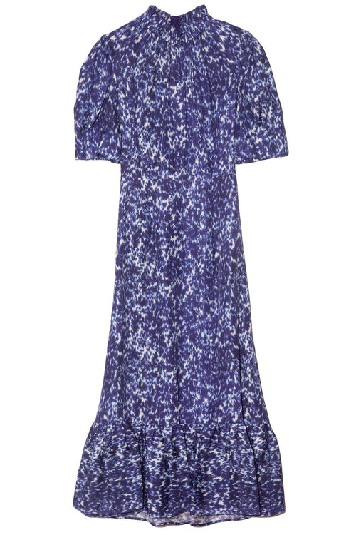 Celine Puff Sleeve Dress in Lapis
