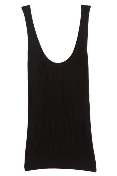 Knit Tank Top in Black