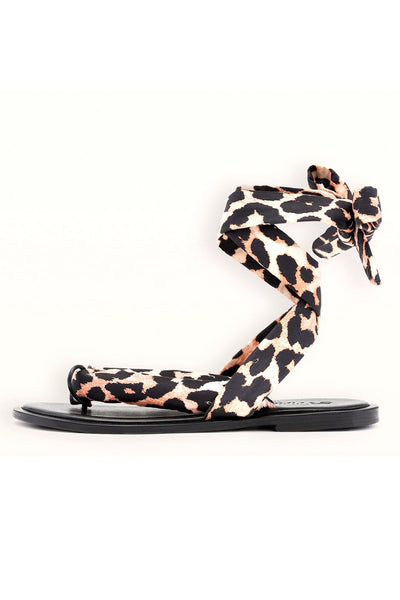 Recycled Tech Fabric Sandals in Leopard