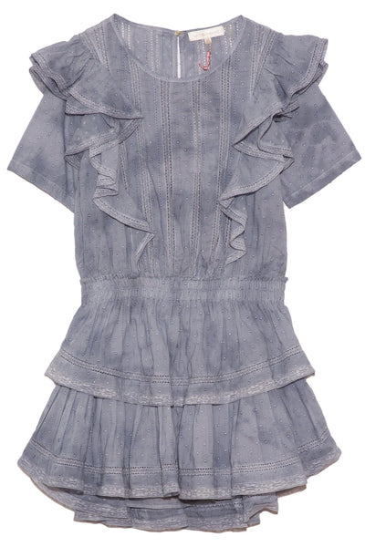 Natasha Dress in Hand Dyed Washed Denim