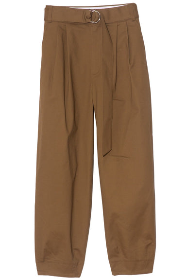 Myriam Twill Stella Ankle Length Sculpted Pant in Loden