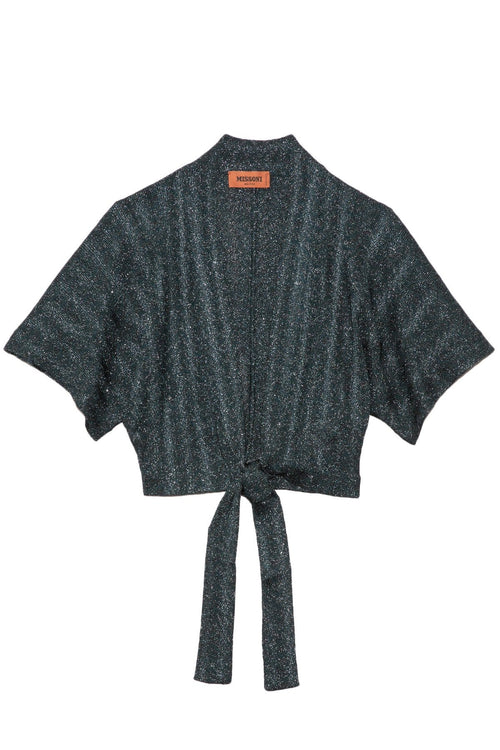 Regular Wave Tie Cardigan in Bronze