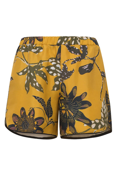 Powerful Flora Shorts in Orange Passiflora