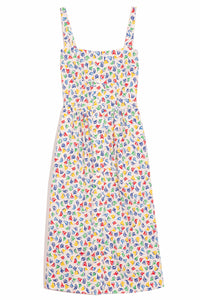 Laura Cotton Dress in Rainbow Boats