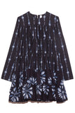 Soliman Shibori Dress in Navy/Combo Print