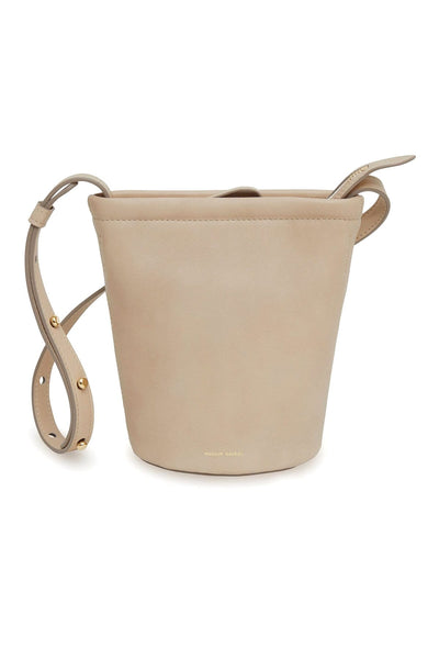 Mini Zip Bucket Bag in Aglio