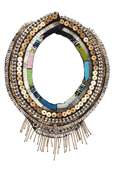 Aztec Petite Layne Necklace in Blue/Green