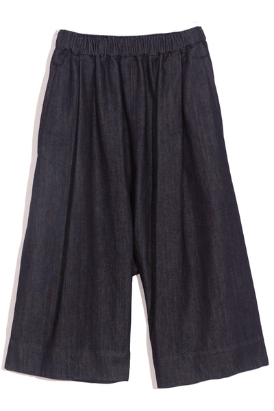Wide Culotte Shorts in Blue