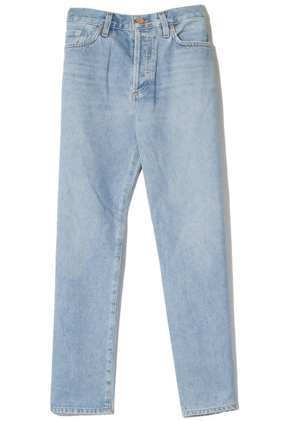 The Low Slung Jean in Marled Blue
