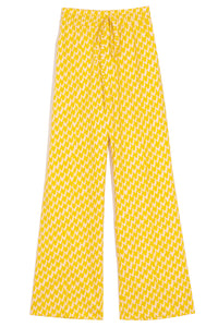 Wide Leg Trouser in Canary Yellow