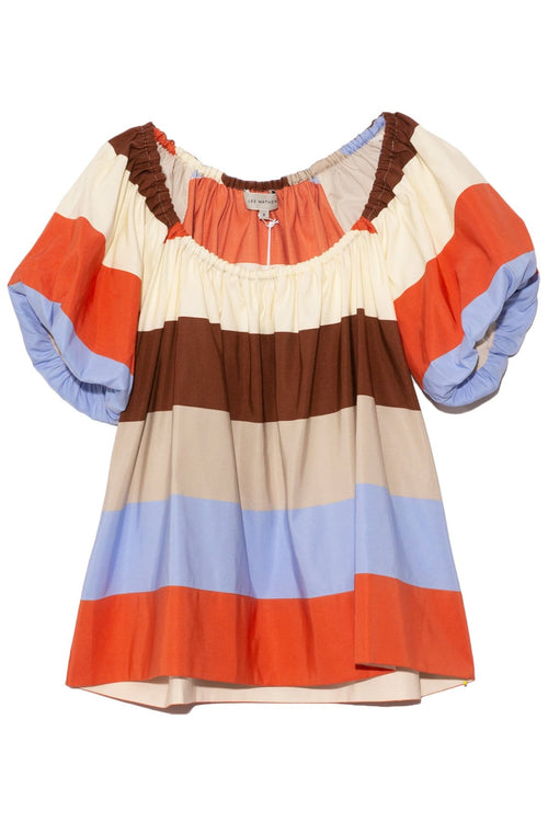 Lina Balloon Top in Stripe