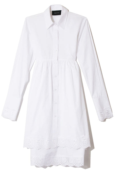 Frock Shirt Dress in White