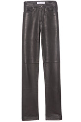 Leather Culotte in Black