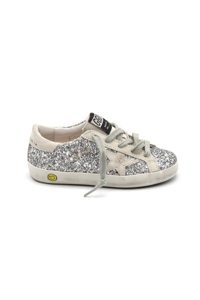 Kids Superstar Sneaker in Silver/Ice